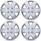 BDK 15 Inch Hubcaps Wheel Protection - 4 Lug Nuts, OEM Replacement, Easy Installation, Total 4 Pieces (2 front 2 rear)