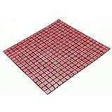 YIZUNNU Self Adhesive Mosaic Aluminum Tile Kitchen Bathroom Backsplash Peel And Stick 11.8''x11.8''/30cmx30cm