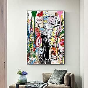 NIMCG Arte Color Graffiti Lienzo de Pared impresión Moderno ...