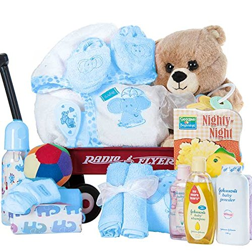 Radio Flyer Baby Boy Gift Basket