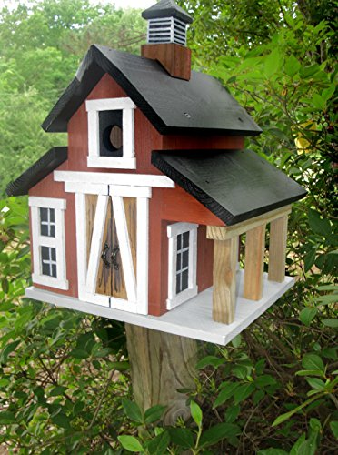 Birdhouses, Barn Birdhouse, Red Rustic Barn Birdhouse by Tallahatchie Designs