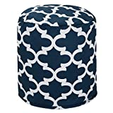 Majestic Home Goods Trellis Pouf, Small, Navy