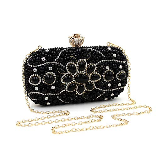 Evening Clutch Quality Bride High Band Borchie Nero Beads With Bag Ladies Fang1106 Purse First Diamond Strength OqwFdqI