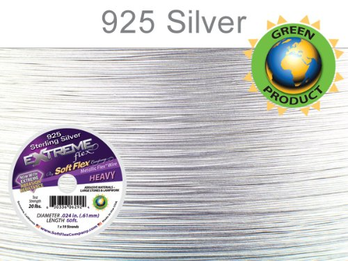 Soft Flex Extreme Bead Wire, Sterling Silver, 0.024 Inch, 50 Feet | BDC-787.03