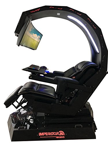 IWR1 IMPERATOR Workstation Game chair, Computer chair for office and home; For triple monitors