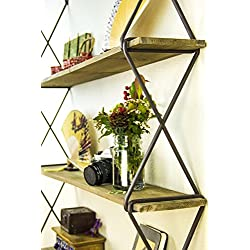Avignon Home Multiple Layer Floating Shelves 3-Tier Floating Wall Mount Shelves Book Shelves Rustic Wood Hanging Shelves Storage, Display & Decor for Bedroom, Living Room, Kitchen, Office