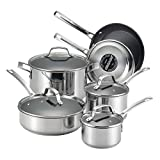 quality stainless steel cookware - Circulon Genesis Stainless Steel Nonstick 10-Piece Cookware Set