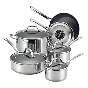 Circulon-77881-Genesis-Stainless-Steel-Cookware-Pots-and-Pans-Set-10-Piece