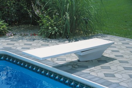 (Flyte-Deck II Stand with 8 foot Radiant White Fibre-Dive Diving Board)