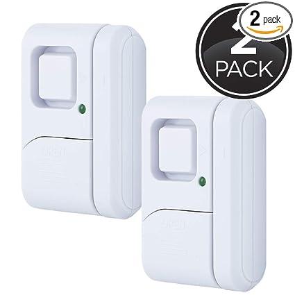 GE Personal Security Window/Door Alarm, 2-Pack, DIY Home Protection,  Burglar Alert, Wireless Alarm, Off/Chime/Alarm, Easy Installation, Ideal  for ...