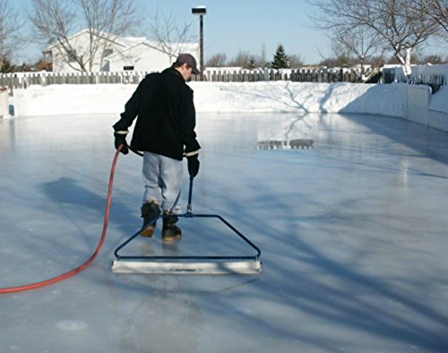 Nice Ice 52 - inch Wide Portable Hand Held Backyard Ice Rink Resurfacer Groomer for Smoothing Out Skating Rink Ice