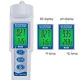 pH EC Temperature Meter Waterproof Water Quality