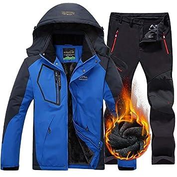 Zjsjacket Chaqueta de esqui Hombres Invierno Chaqueta impermeable Pantalones Trekking Senderismo Camping Ski Snowboard Chaquetas Al