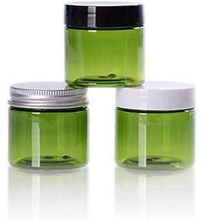 furnido 6pcs 50 G 50 ml PET frascos de plástico de cosméticos vacíos recargables con cubierta