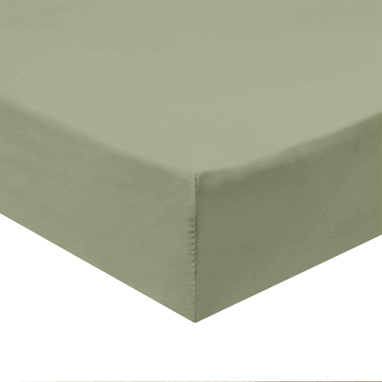 Wrinkle Free Fitted-Sheet White Top-Split-King : Adjustable Split Top King 650 Thread Count 100/% Cotton-Poly Blend Fitted Royal Bedding Silky Soft Cotton Blend Fitted Sheet