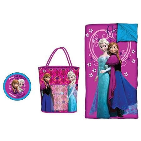 Disney Frozen Character Sleeping Bag, Pillow And Tote Set...