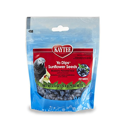 Kaytee Blueberry Flavored Yogurt Dipped Sunflower Seeds For Birds Treat (Treats Dips Yogurt)
