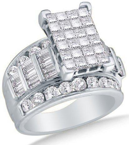 14k Yellow OR White Gold Ladies Womens Diamond Wedding Ring (3.00 cttw.)