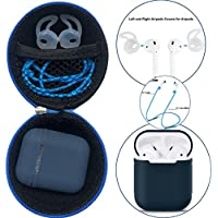 AirPods Case + Airpods Starp,GoodOkay Colorful Strap for iPhone 7/iPhone 7 Plus AirPods,AirPods Case Protective Silicone Cover and Skin for Apple Airpods (Blue)