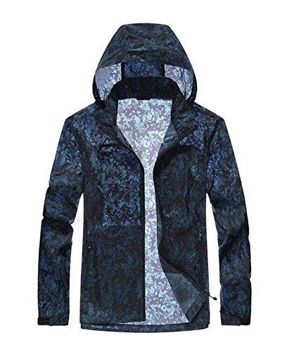 Pelle Giacca Abbigliamento Sottili Vento Solare All'acqua Maschio Resistente Traspirante Monostrato Blue Maschile A Mimetico Protezione 5IqfxawnE1