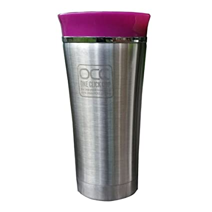 Vaso Termico Premium - A Prueba de Fugas - con 1 año de garantía travel mug - Un Clic, con una mano - Apto para lavavajillas - Vacuum-insulated acero ...