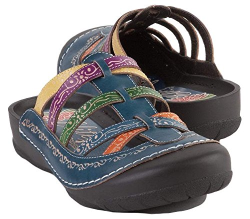 Corkys Womens Elite Rock Clogs Sandals Blue Size 9