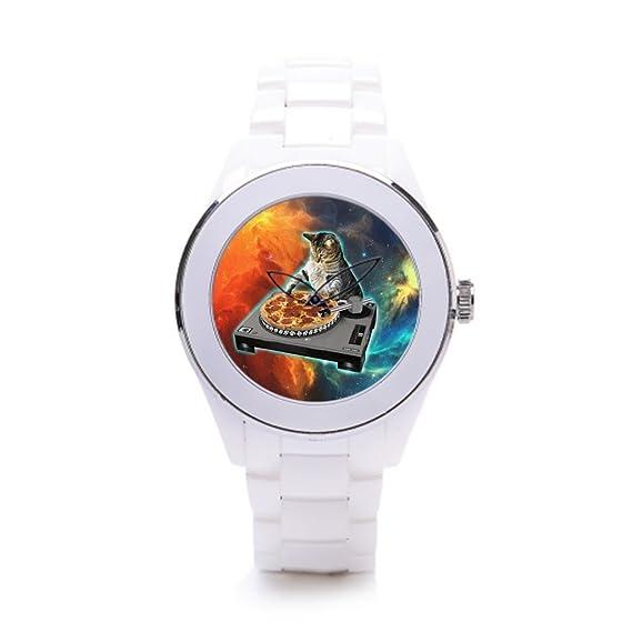 queenslandmen squality relojes Cat Dance cerámica reloj banda recambio gato DJ