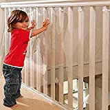 Kidkusion Kid Safe Banister Guard, 15ft, Clear, Made in USA
