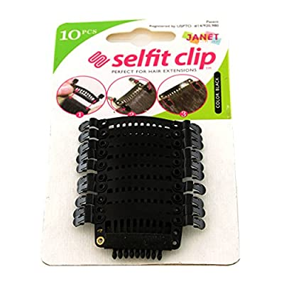 Janet Collection Selfit Clip 10pcs Hair Clips for Hair Extensions