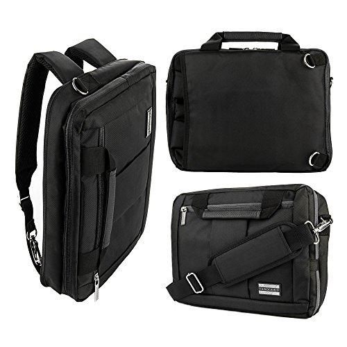 12 Inch Multi-functional Business Briefcase Sleeve Messenger Bag Shoulder bag Handbag Backpack for Apple/Acer/Asus/Dell/Fujitsu/Lenovo/HP/Samsung/Sony/Toshiba Tablets (Fujitsu Travel Bag)