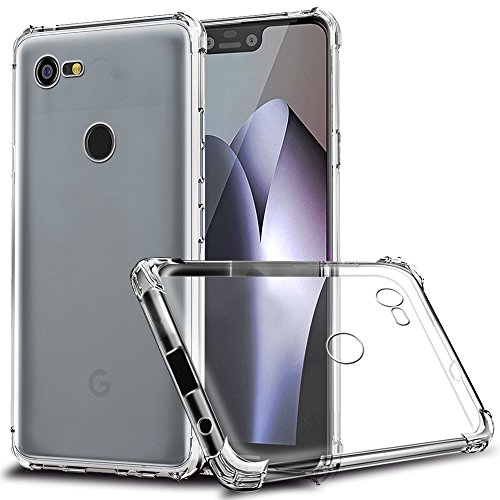 flexible tpu cover with four corner bumper for pixel 3 xl
