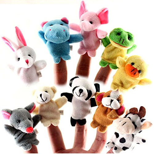 10 Set Animal Finger Puppets Set Novelty Educational Toys
