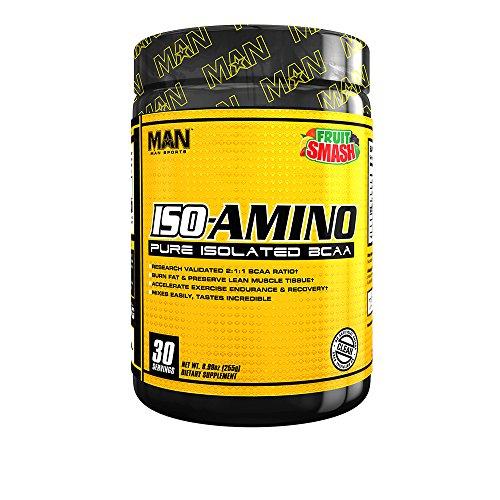 MAN Sports ISO-Amino BCAA Amino Acid Powder, Fruit Smash, 30 Servings, 7.41 Ounce