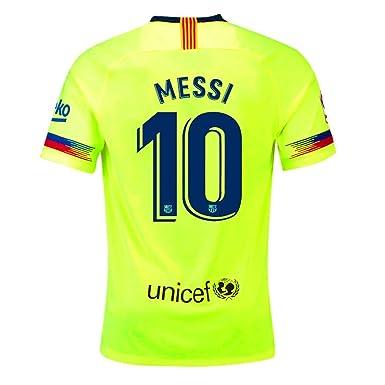 Uilxleo #10 Messi Soccer Jerseys 2018-2019 Barcelona Away Mens Soccer Jerseys