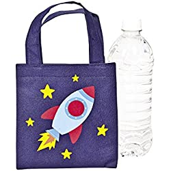 Mini Spaceship Tote Bags - 12 ct