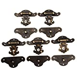 Dophee 5Pc 82x65mm Retro Vintage Decorative Cabinet Latches Hasp Pad Lock Clasp for Jewelry Wooden Box Case Chest