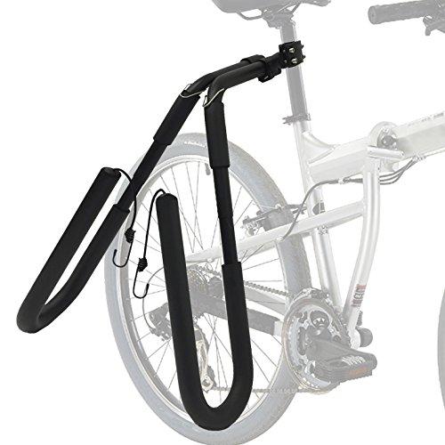 EasyGo Bike Surfboard Rack - Surf Board Holder – Bike Board Carrier - GUARANTEED Best Value - Fits 27.2mm and Larger Seat Posts