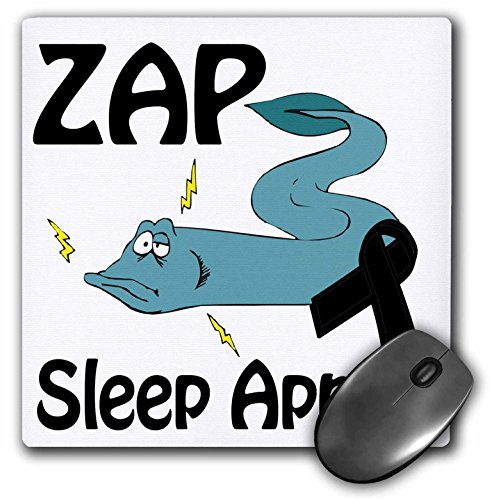"Price comparison product image 3D Rose ""Zap Sleep Apnea Awareness Ribbon Cause Design"" Matte Finish Mouse Pad - 8 x 8"" - mp_115344_1"