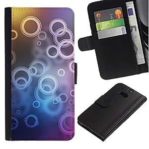Protector de cuero de la PU de la cubierta del estilo de la carpeta del tirón BY RAYDREAMMM - HTC One M8 - Patrón de timbre