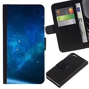 Ihec-Tech / Flip PU Cuero Cover Case para Apple Iphone 6 4.7 - The Blue Space Galaxy