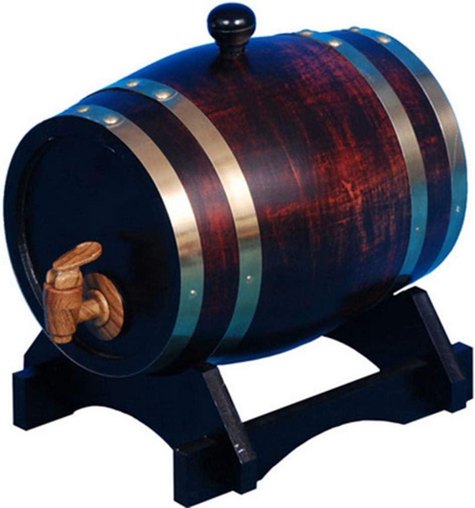 Barril de Whisky, Barril de Vino, decoración de Escritorio, Barra de Madera Maciza Antigua Vintage, Suministros para Bodega Tingting (Color: Serpiente, tamaño: 23 * 25 cm)