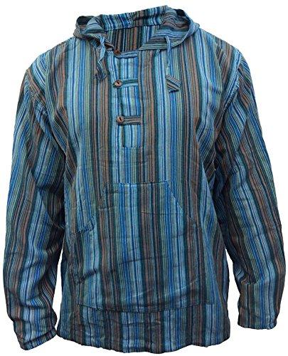 A Serafino Mix Shopoholic Dharke Con Camicia Righe Fashion Leggero Turquoise Felpa Cappuccio Multicolore nqUSUHF