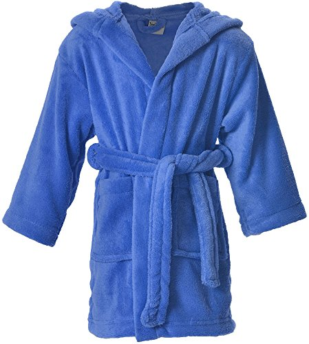 Simplicity Kids Robe Boys Girls Bath Robe and Cover up,Royal Blue,7-10 Years