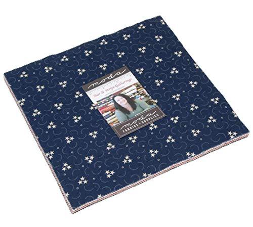 Star & Stripe Gatherings Layer Cake 42 10-inch Squares by Primitive Gatheringsfor Moda Fabrics