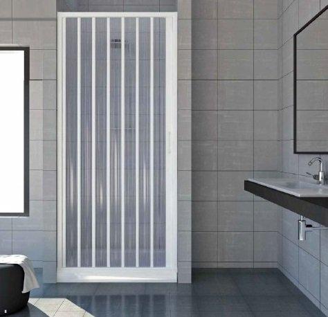 Box porta doccia un lato a soffietto laterale, chiusura pacchetto in pvc bianco FREE (80-100 cm) MITEPEK