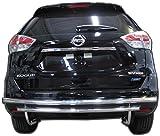 nissan rogue bumper guard - Wynntech Rear Bumper Guard for Nissan Rogue - 2014 to 2018 - Stainless Steel Double Layer