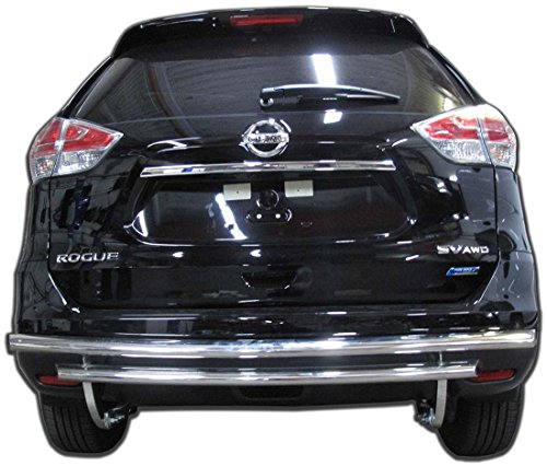 Wynntech Rear Bumper Guard for Nissan Rogue – 2014 to 2018 – Stainless Steel Double Layer