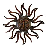 Deco 79 97918 Metal Sun Wall Decor, 35'' D