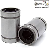 Invento LM8UU_1 2 Pieces Lm8Uu 8mm Linear Bush Ball Bearing for Reprap Prusa 3D Printer or CNC or Robotic