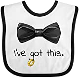 Inktastic - I've got this- black bow tie with wedding Baby Bib White/Black 2ff52